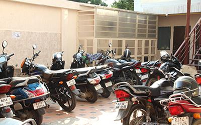 Two wheeler parking area