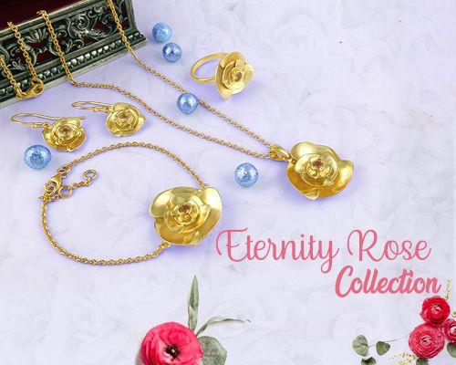 Eternity Rose Silver Jewelry Collection Manufacturer, Supplier, Store in Jaipur