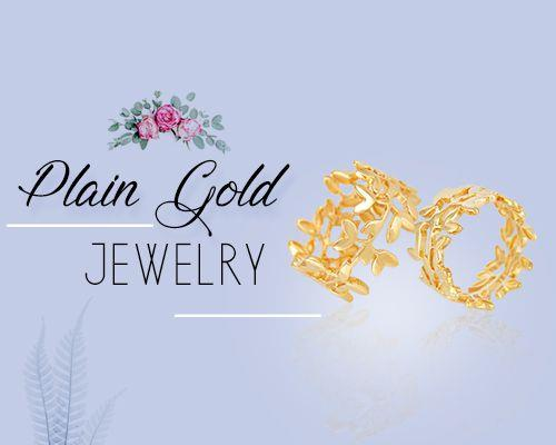 Wholesale Plain Gold Jewelry Manufacturer, Store in Jaipur