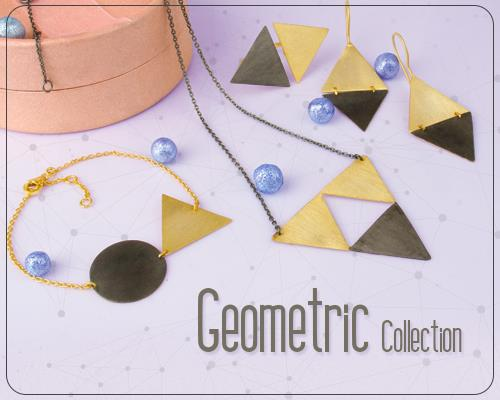 Handmede Silver Geometric Jewelry Collection Manufacturer, Shop in Jaipur