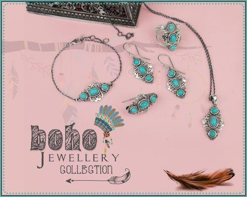 Handcrafted Wholesale Silver Bohemian Jewelry Collection Manufacturer in Jaipur