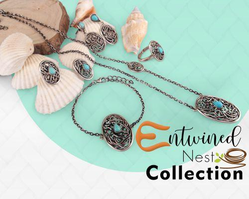 Entwined nest jewelry collection